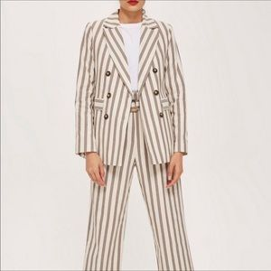 TopShop Stripe Blazer Double Button suit jacket